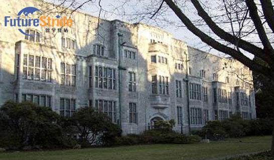 学校介绍 英属哥伦比亚大学(University of B.C.)是加拿大著名的八所大学之一。成立于1908年,距今已有百多年历史之久。英属哥伦比亚大学以其极高的声望和影响力,以及广泛的专业设置,吸引成千上万的国内外学生前来就读。 英属哥伦比亚大学不仅是北美名牌大学之一,在国际上也享有盛誉。 英属哥伦比亚大学的主要校区有两处,一个为温哥华校区,位于加拿大第三大城市温哥华的市郊,距离温哥华只有30分钟的车程,校区占地达400公顷。这里有怡人的气候,绵延的海岸线,美丽的海洋与沙滩,是游览观光者必到之处。此外,